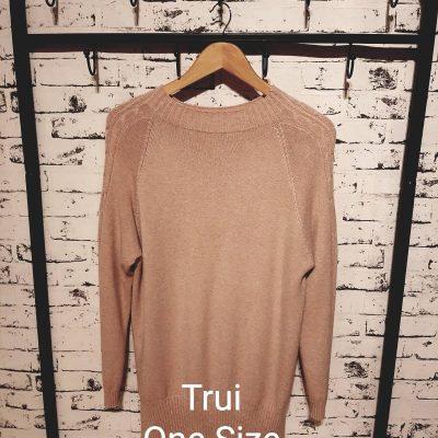 trui met hals one size