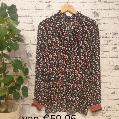 blouse met print roestkleur