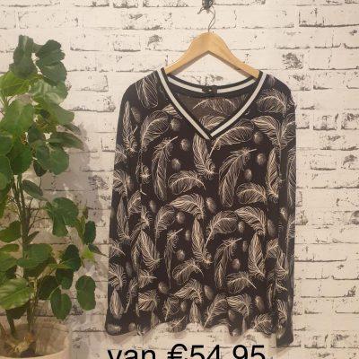 blouse met veer