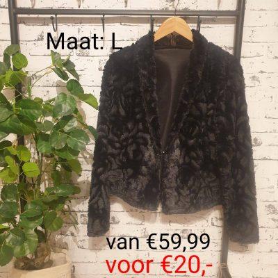 wollig jasje zwart